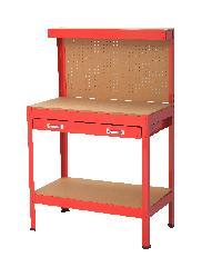 HUMMER โต๊ะเก็บเครื่องมือช่าง 90x48x140 cm  YH-WT008 สีแดง