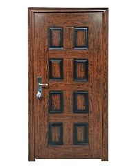 Wellingtan ประตูเหล็กนิรภัย เปิดขวา พร้อมวงกบ 200x90 cm. CF-S1114-RO