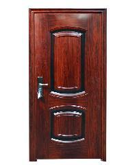 Wellingtan ประตูเหล็กนิรภัย เปิดขวา พร้อมวงกบ 200x90 cm. CF-SXN-RO