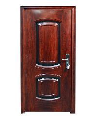 Wellingtan ประตูเหล็กนิรภัย เปิดซ้าย พร้อมวงกบ CF-SXN-LO สีน้ำตาลเข้ม
