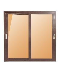 Wellingtan ประตูบานเลื่อน UPVC 2 TONE 2 บาน 160x205cm (กxส) BD2001 ขาว-น้ำตาล