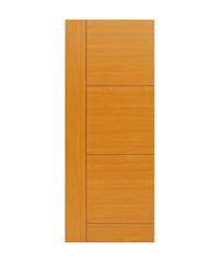 HOLZTUR ประตูปิดผิวเมลามีน เซาะร่องดำ   80cm.x200cm. Cherry  MDL005