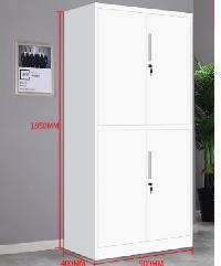 - ตู้เอกสาร 4 บานเปิด ทึบ ขนาด 40x90x185cm. ZY-018 สีขาว