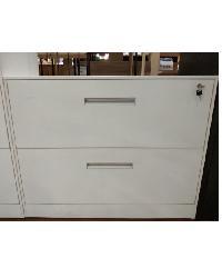 Haritage ตู้ลิ้นชักเหล็ก 2 ลิ้นชัก ขนาด 45x90x70 cm.  ZY-015 สีขาว