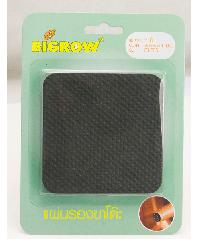 BIGROW ยางรองขาโต๊ะกันพื้น ทรงสี่เหลี่ยม E1F85  สีดำ