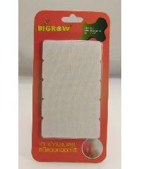 BIGROW เทปผ้าหนามเตยชนิดลอกออกได้ สีขาว รุ่นFS001 ขนาด60*20*4มม. FS001