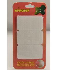 BIGROW เทปผ้าหนามเตยชนิดลอกออกได้ สีขาว รุ่นFS002 ขนาด60*32*4มม. FS002