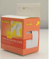 BIGROW เทปผ้าหนามเตยชนิดลอกออกได้ สีขาว รุ่นFS305 ขนาด20มม.*1ม.  FS305