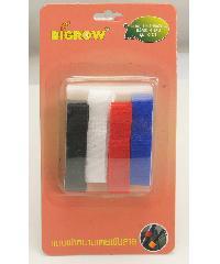 BIGROW แถบผ้าหนามเตยพันสาย4สี รุ่นST01 ขนาด10*145*2มม. ST01