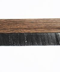 BIGROW เส้นกันแมลง PVC แถบขนแปรง รุ่น 6101 80cm. ลายไม้ - สีน้ำตาลอ่อน