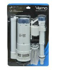 VERNO ชุดอุปกรณ์หม้อน้ำสำหรับสุขภัณฑ์สองชิ้น แบบกดด้านบน 2 ระบบ VN-34203 สีขาว