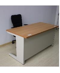 - ชุดโต๊ะทำงานเหล็ก ขนาด120x60x75cm. OD-S2-3 สีขาว