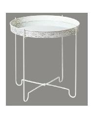 Delicato โต๊ะกาแฟ ขนาด 40x40x43ซม.   CY17429-WH สีขาว