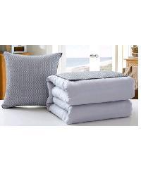 COZY หมอนผ้าห่ม 50X50  CXNE025 สีเทา