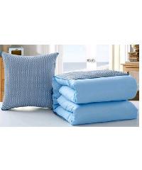 COZY หมอนผ้าห่ม 50X50  CXNE025 สีฟ้า