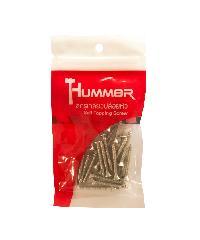 HUMMER สกรูเกลียวปล่อยหัว  7x1-1/4นิ้ว (25ตัว/แพ็ค) F-HM7114 สีโครเมี่ยม