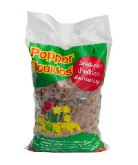 Popper  เม็ดดินเผามวลเบา ไซส์ L ขนาดบรรจุ 1 ลิตร - น้ำตาล