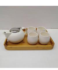 - ชุดกาน้ำพร้อมฐานเซรามิค Y540 สีขาว
