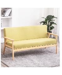 Divano โซฟาผ้า 3 ที่นั่ง ขนาด 65X155X71CM MH003 สีเขียว