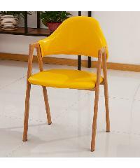 Pulito เก้าอี้ ขนาด 60×50×70cm. SQ005 สีเหลือง
