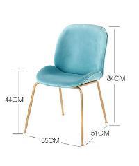 Pulito เก้าอี้ ขนาด 56.5×53×85cm. SQ010 สีฟ้า