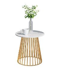 Pulito โต๊ะกาแฟ ขนาด 50×50×62cm. SQ011 สีขาว