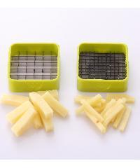 - ชุดอุปกรณ์หั่นผัก 2ใบมีด  ขนาด 9x13x9 cm  ZDS022-GN สีเขียว