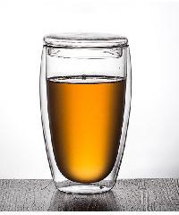- แก้วใสสองชั้นพร้อมฝาปิดแก้ว 450 ml.   XXL004