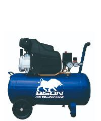 BISON ปั้มลม 2 HP 40 ลิตร BRC-120 สีน้ำเงิน