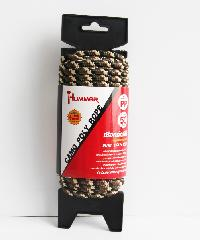 HUMMER เชือกถักพีพี 1/4นิ้วx15M ลายพรางทะเลทราย - สีน้ำตาลอ่อน