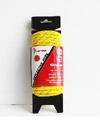 HUMMER เชือกถักพีพี คาดเส้นสะท้อนแสง 1/4นิ้วx15M สีเหลือง - สีเหลือง