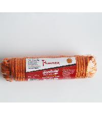 HUMMER เชือกถักพีพี คาดเส้นสะท้อนแสง 1/4นิ้วx25M สีส้ม - สีส้ม