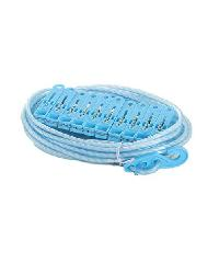 SAKU เชือกตากผ้าพร้อมตัวหนีบผ้า10 อัน ZYZ011 สีฟ้ามิ้นท์-ขาว