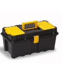 PORT-BAG กล่องเครื่องมือพลาสติก สีเหลือง-ดำ PB รุ่น AP-02 16นิ้ว - สีดำ