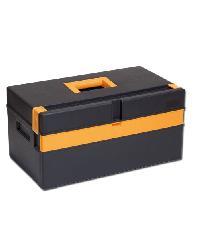 PORT-BAG กล่องเครื่องมือพลาสติก สีดำ-เหลือง PB รุ่น CP-01 16นิ้ว - สีดำ