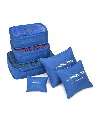 - ชุดกระเป๋าจัดระเบียบ ( 6ใบ )  ZRH-001-BU  สีน้ำเงิน