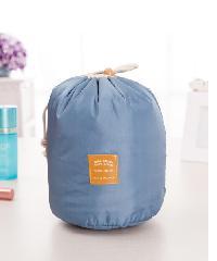 - กระเป๋าจัดเก็บเครื่องสำอาง ขนาด Φ17x23 cm  ZRH-006-BB  สีฟ้า
