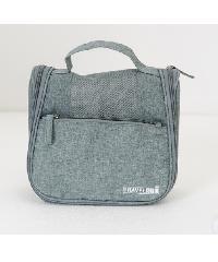 - กระเป๋าจัดเก็บอุปกรณ์อาบน้ำ  ขนาด 23x19x10 cm   ZRH-017-GY สีเทา
