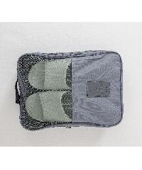 - กระเป๋าจัดเก็บรองเท้า 2 ชั้น ขนาด 22x12x30 cm   ZRH-021-GY  สีเทา