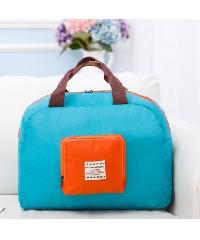WETZLARS กระเป๋าอเนกประสงค์แบบพับได้  ZRH-027-BB ขนาด 45x32 cm สีฟ้า-ส้ม