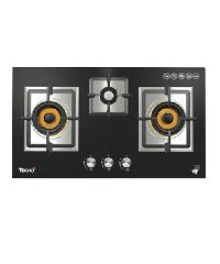TECNO- เตาแก๊สแบบฝังหน้ากระจก 3 หัวเตา TNP HB 3079 GB