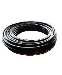 """ท่อ LDPE แรงดัน4 ขนาด 25 มม.200 ม.คาดส้ม(3/4"""") ดำ"""