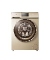 Haier เครื่องซักผ้าฝาหน้า ขนาด 8 Kg. HWD-C180 สีทอง