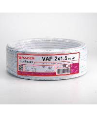RACER สายไฟ VAF 2x1.5 30M   VAF 2 x 1.5 30M ขาว