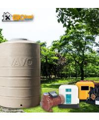 Global house บริการติดตั้งปั้มน้ำอัตโนมัติและถังน้ำ 3 ระบบ (รวมอุปกรณ์  ยกเว้นเดินระบบท่อประปา)