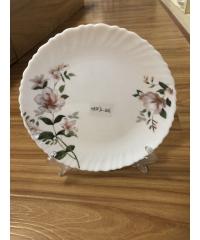 ADAMAS จานโอปอลขอบริ้ว ลานดอกเหมย 7.5 HBTP75-2406 สีขาว