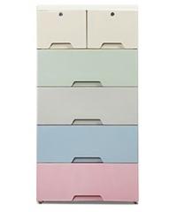 SAKU ตู้ลิ้นชักพลาสติก 5 ชั้น ขนาด 57×38×68ซม. คละสี  EHHZ01
