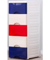 SAKU ตู้ลิ้นชักพลาสติก 5 ชั้น ขนาด 32×40×83ซม.คละสี  DRF003