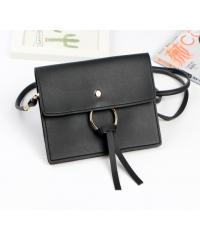 USUPSO กระเป๋าใส่มือถือ Simple Circle Element สีดำ