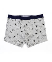 USUPSO กางเกงบ็อกเซอร์ชาย - L  Husky Print สีเทา